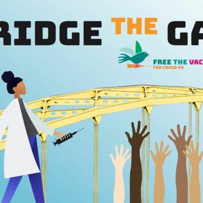 """Bridge The Gap"" Postcard"
