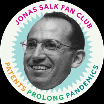 Jonas Salk Fan Club Sticker