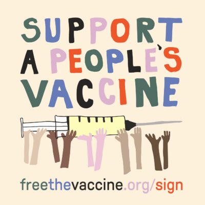 Hands Raised for the People's Vaccine