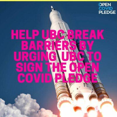 UBC Open COVID Pledge Poster