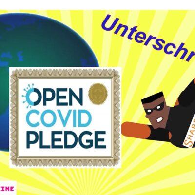 Cartoon – CureVac, Sign the Open COVID Pledge!